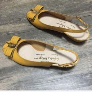 Salvatore Ferragamo Vara Bow Peep Toe Shoes